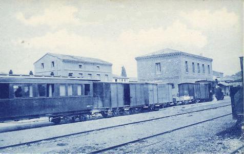 Estacion de Ferrocarril Sadaba antigua , creada por FERNANDISCO el 23/06/2012