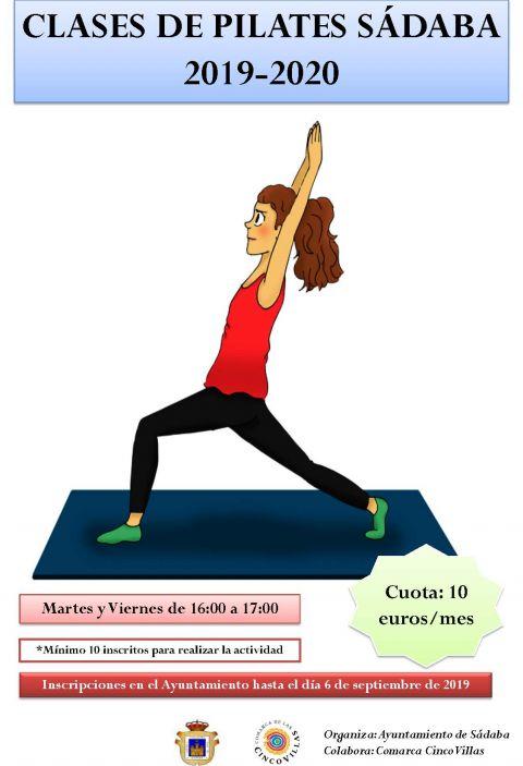 Clases de Pilates Sádaba 2019-2020